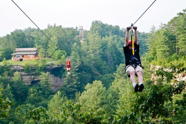 Great Team Building Activity - Red River Gorge Zipline at Cliffview Resort